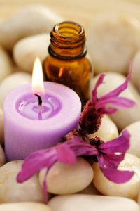 massage and essential oil aromatherapy